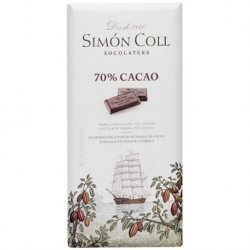 Chocolate Tableta de Choco Negro 70% 10 paquetes