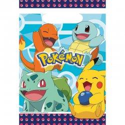 8 Bolsas De Pokémon De Plástico 23.4 X 16.2 cm