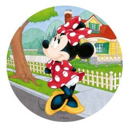 6 Obleas Minnie Mouse 20 cm