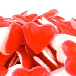 corazones chuches rojos y blancos