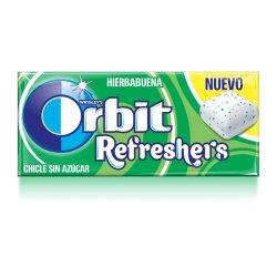 Chicles Orbit Refreshers Hierbabuena Sin Azúcar