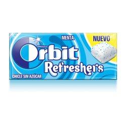 Chicles Orbit Refreshers Menta Sin Azúcar