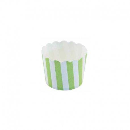 12 Envoltorios de Rayas para Cupcake