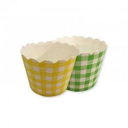 12 Envoltorios de Cuadros para Cupcake