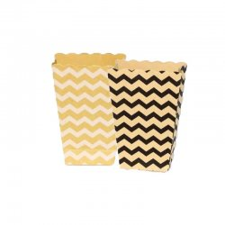 4 Recipientes Kraft Chevron