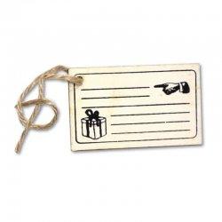 Etiqueta Arpillera con Cuerda