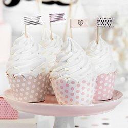6 Cápsulas para Cupcake Rosas