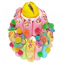 Pastel de Chucherías Multicolor 300 grs
