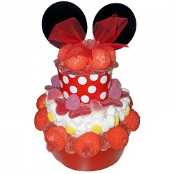 Tarta de Chucherías Minnie Mouse 500 grs