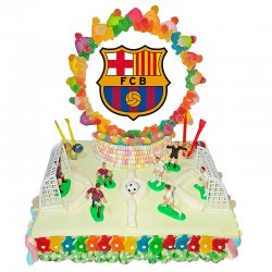 Pastel Chuches Campo FC Barcelona 1180 grs