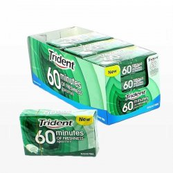 Chicles Trident 60 Minutos Hierbabuena 16 paquetes