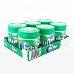 Chicles Orbit Bote de Hierbabuena 6 paquetes