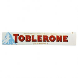 Chocolate Toblerone Blanco 20 paquetes