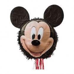 1 Piñata De Mickey Mouse De 50 cm X 24 cm X 17 cm