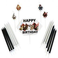 1 Set 17 Velas De Star Wars Para Cumpleaños