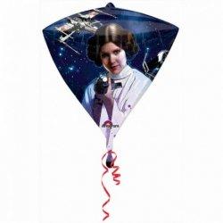 1 Globo De Star Wars En Forma Diamante 38 cm X 43 cm